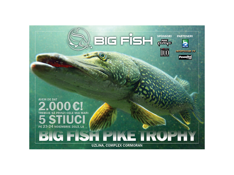 Big Fish PIKE TROPHY - Concurs de pescuit la stiuca in Delta