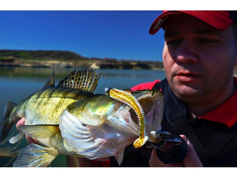 Pescuitul salaului primavara pe balastiera
